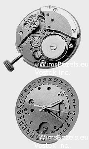 vostok 2414 movement back, front